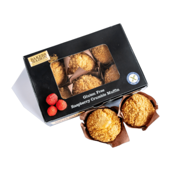 Gluten Free Raspberry Crumble Muffin