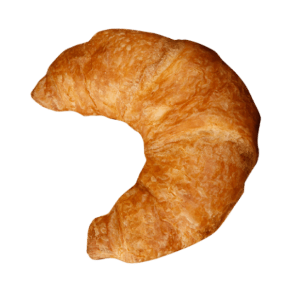 Large Butter Croissant Bent Fully Baked